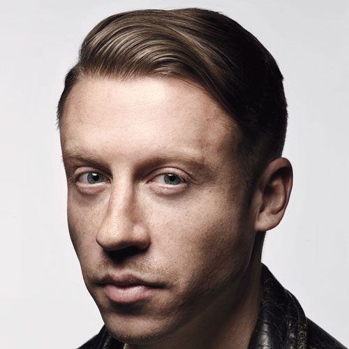 Macklemore Hair - Mid Fade with Side Swept Hair