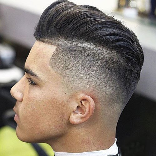 Pompadour with Disconnected Undercut