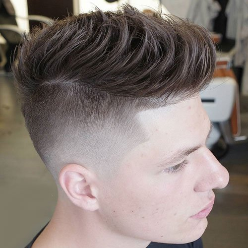 Quiff with Disconnected Undercut