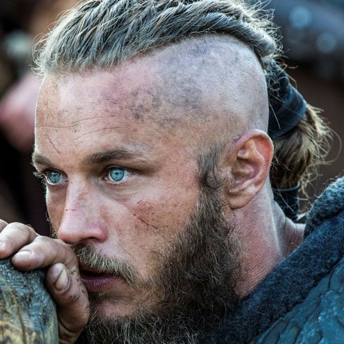 Ragnar Lothbrok Haircut - Shaved Sides with Long Braided Hair