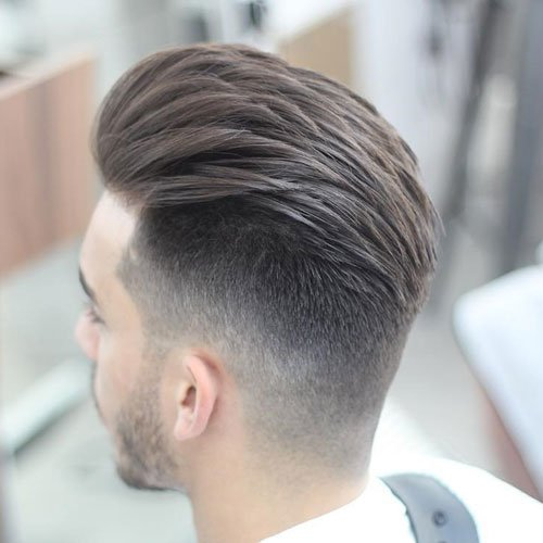 Swept Back Hair with Undercut Hairstyle