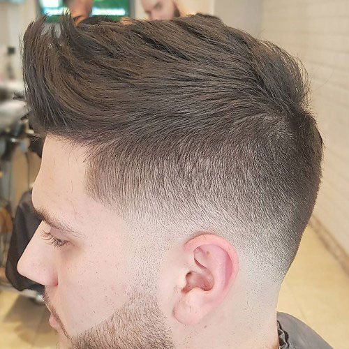 Textured Bro Hawk + Low Bald Fade