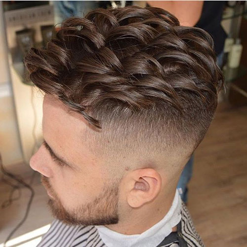 Undercut Fade with Thick Textured Comb Over