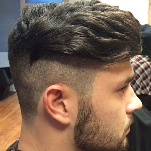 Undercut with Beard and Side Swept Top