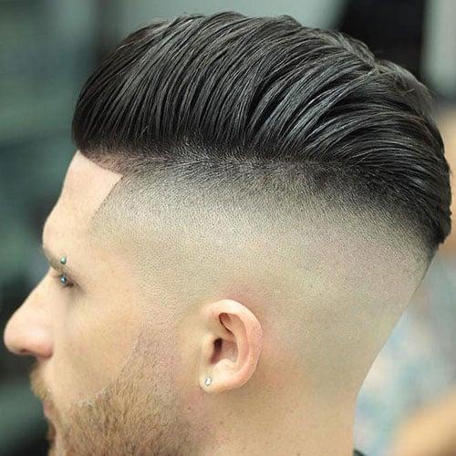 Undercut with Pompadour Comb Over