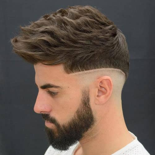 Wavy Hawk + Mid Shaved Sides + Full Beard