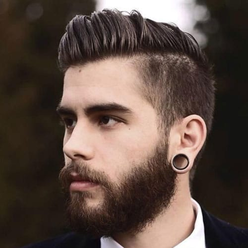 Comb Over Taper And Full Beard