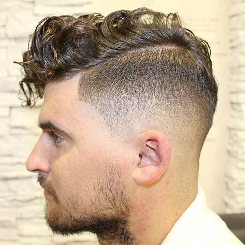 High Bald Fade Undercut With Comb Over