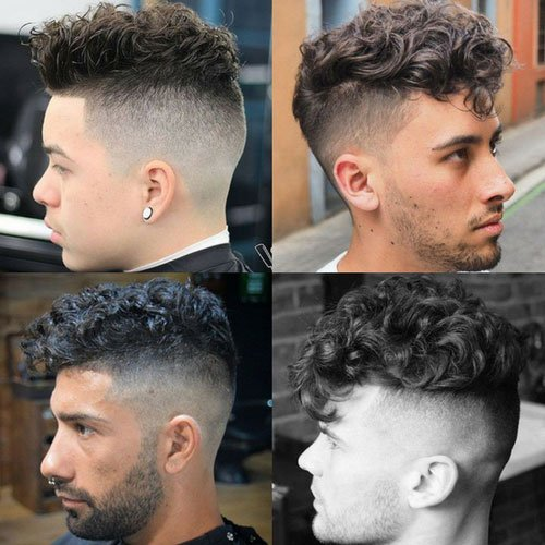 The Curly Hair Undercut | Men's Hairstyles + Haircuts 2017