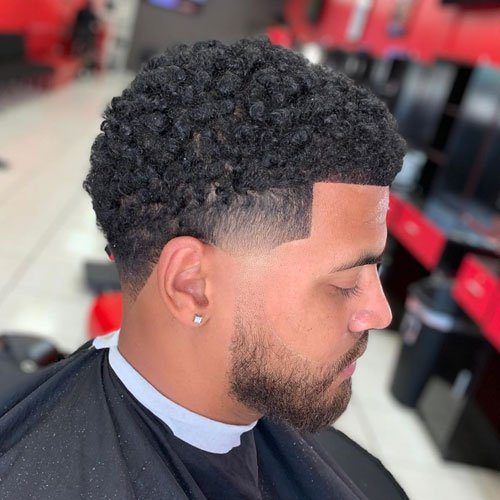 Curly Temp Fade