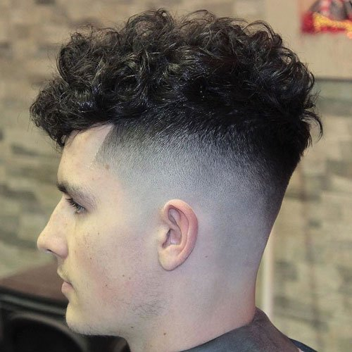 High Bald Fade with Curls