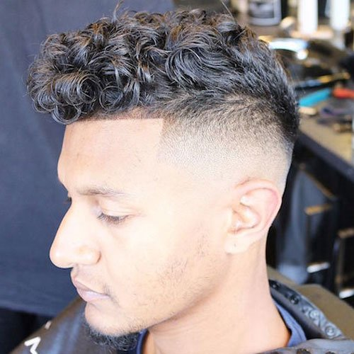The Curly Hair Fade | Men's Hairstyles + Haircuts 2017