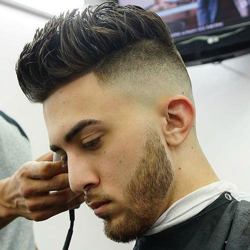 The skin fade haircut bald fade haircut mens hairstyles high skin fade undercut with spiky hair urmus Choice Image