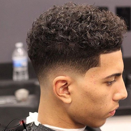 The Curly Hair Fade Men S Hairstyles Haircuts 2017