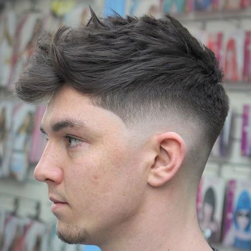 Low Skin Fade with Long Hair