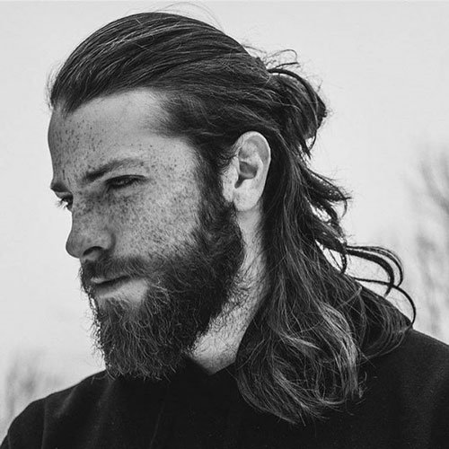 Jason Momoa Ponytail: Men's Hairstyles + Haircuts 2017