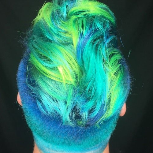 Merman Hair Guys With Colored Hair And Dyed Beards Men
