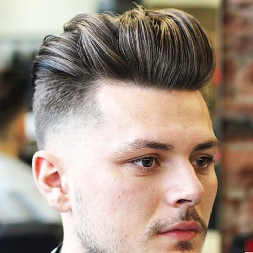 Quiff with Temple Fade Cut