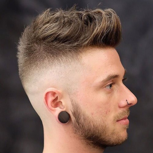 Skin Fade with Beard and Quiff