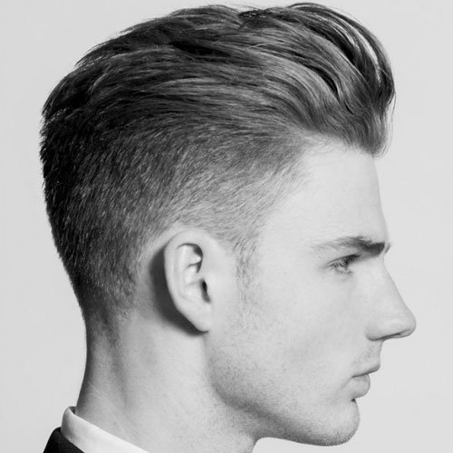 Textured Slick Back and Tapered Sides