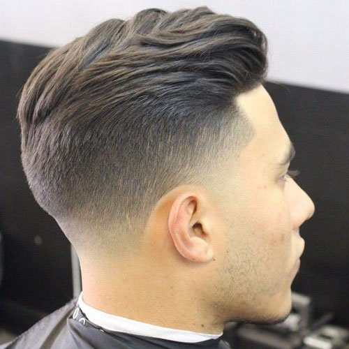 Taper Fade With Textured Slick Back