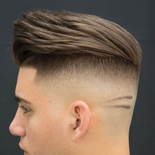 Undercut Fade with Pomp