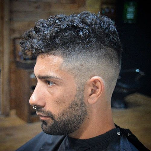 Undercut with Curly Hair and Beard