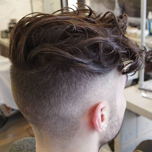 Undercut with Long Curly Hair on Top