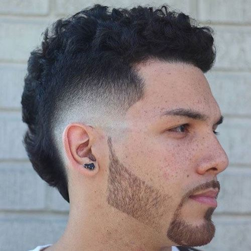 Bald Burst Fade with Thick Mohawk