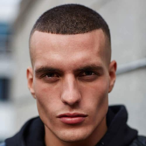 Buzz Cut with Skin Fade and Line Up