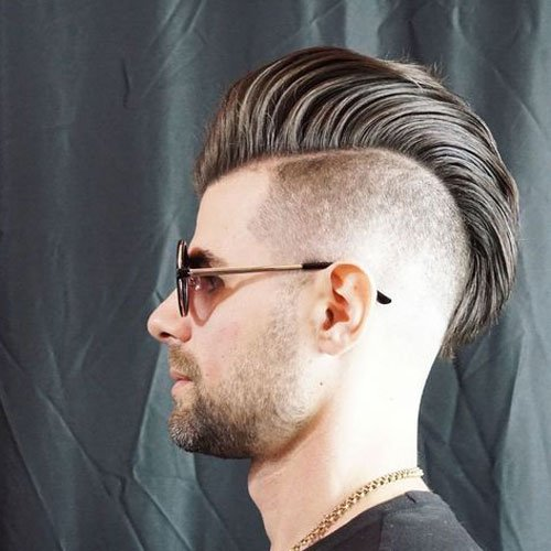 Disconnected Undercut + Long Textured Slicked Back Hair