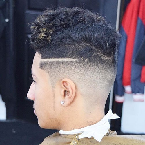 High Fade with Thick Curly Hair