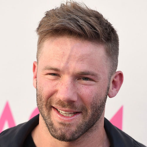 Julian Edelman Haircut - Textured Hair with Fade and Stubble