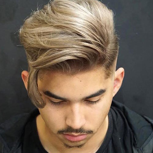 Long Fringe with High Fade and Goatee