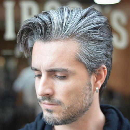 Long Quiff with Long Sides and Beard