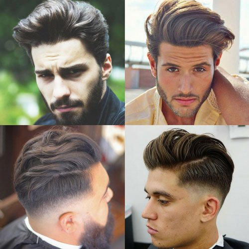 Textured Modern Quiff | Men's Hairstyles + Haircuts 2017