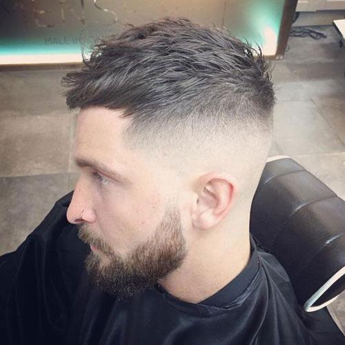 Short Cropped Hair + High Bald Fade