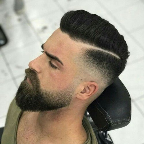 Short Hair Beard Fade