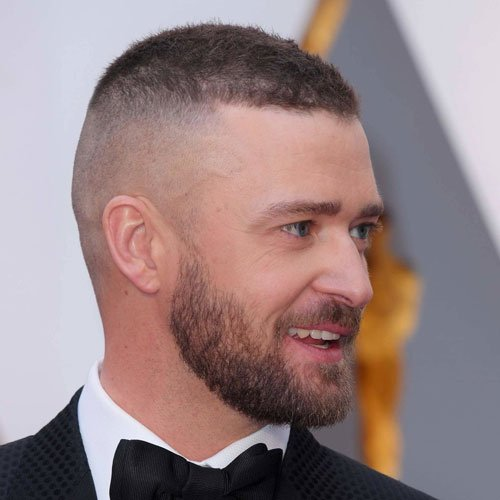 Short Hair Fade with Beard