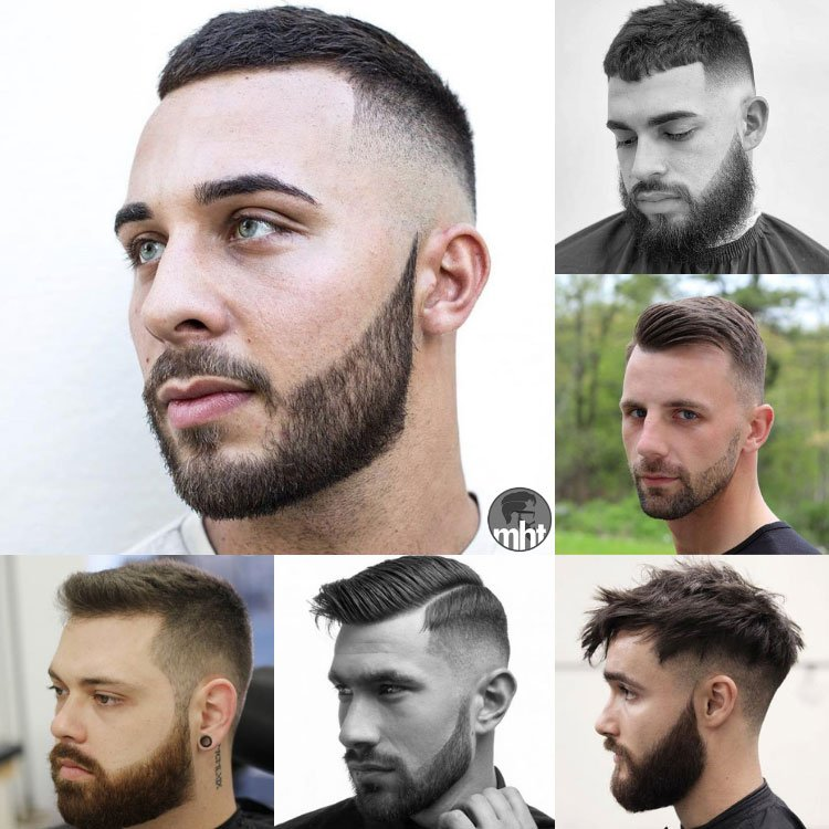 Short Hair with Beards
