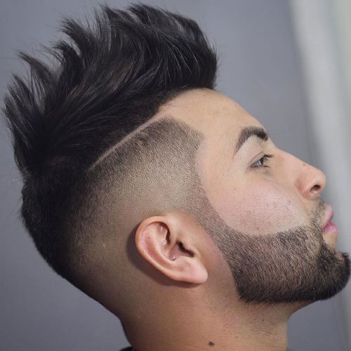 Spikes + Hard Part + High Skin Fade