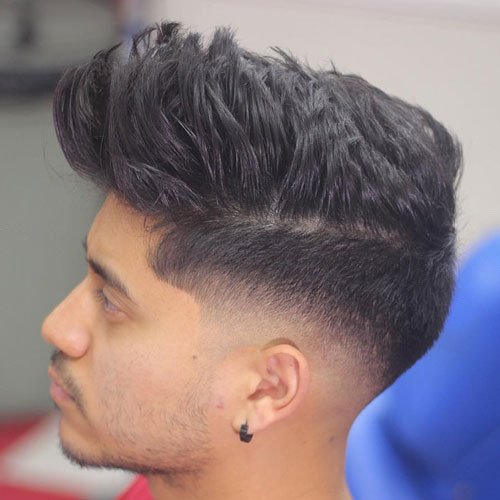 Textured Spiky Hair Low Skin Fade