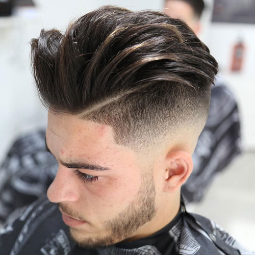 Undercut with Quiff and Beard