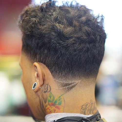 All Around Taper Fade + Messy Wavy Top