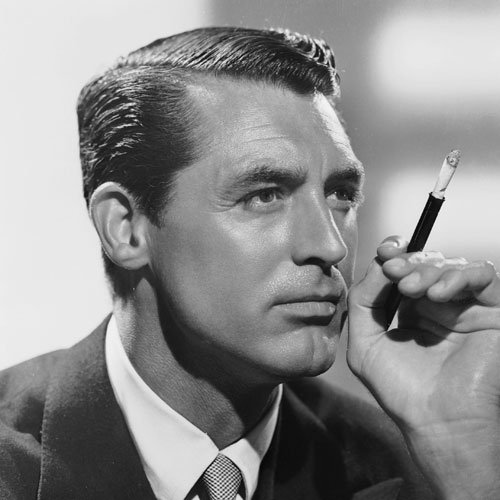 Cary Grant + Slick Side Part