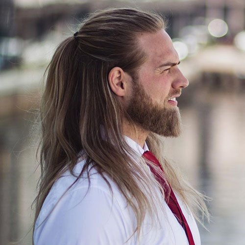 Awesome Half Up Long Hairstyle