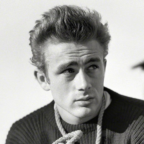 James Dean Haircut - Textured Brushed Up Hair