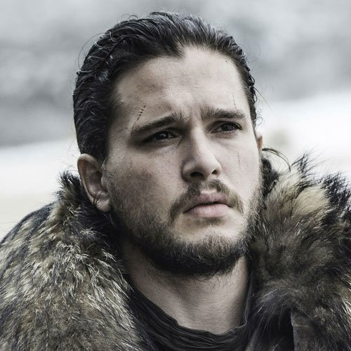Jon Snow Hairstyle - Pulled Back Hair