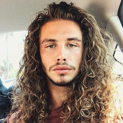 men with long hair 2018