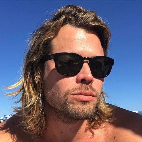 Long Surfer Hair